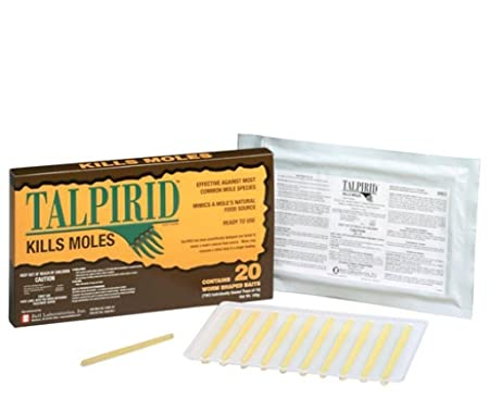 Talprid Moles Bait 1/2 Box(10 Worms Shaped Baits)