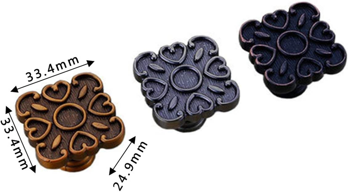 Gugutogo Manijas de Puerta de aleaci/ón de Zinc para el hogar de Estilo Chino Armarios Tiradores de cajones Perillas de gabinetes para Zapatos de Cocina Manijas para manijas de Muebles