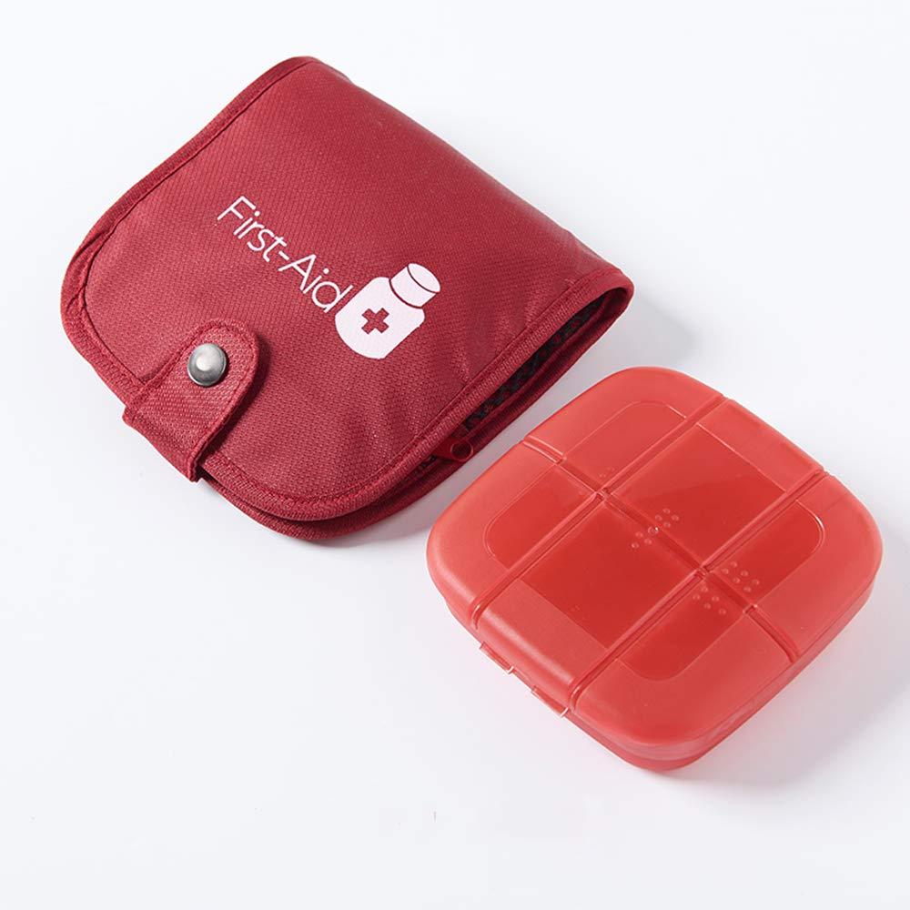Blu Organizzatore della Medicina di Viaggio con la Borsa di Stoccaggio per Il Contenitore Portatile della Pillola della Tasca di Affari e di Festa Allaperto Contenitore della Pillola da 7 Giorni