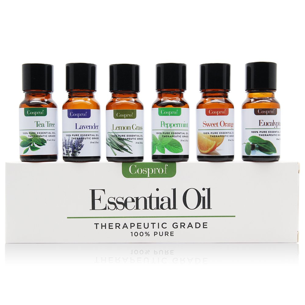 Cosprof Essential Oils Gift Set - 6 Flavors To Choose Plant Aromatherapy Used For Body Massage Flavor Oil Reduced Pressure, 10ML SAISZE