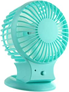BAOBLADE USB Fan Mini Portable Desktop Cooling Desk Small Fan by Computer Laptop PC MAC, Heating, Cooling & Air Quality - Blue, 10x8.5cm