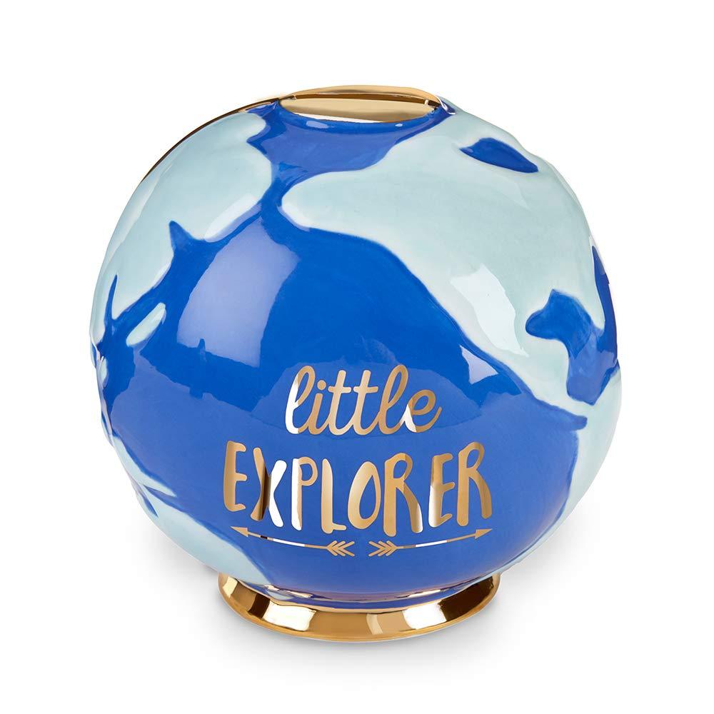 Baby Aspen Little Explorer Globe Porcelain Piggy Bank, Blue, One Size by Baby Aspen