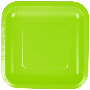 Creative Converting 453123 7\u0026quot; Fresh Lime Green Square Paper Plate ...  sc 1 st  Amazon.com & Amazon.com | Creative Converting 453123 7\
