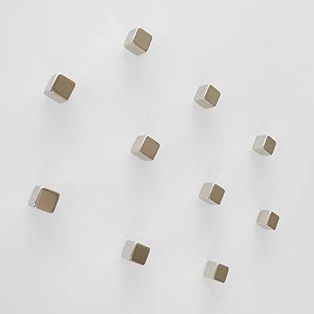 10 Neodym Würfel Magnete für Glas Magnettafel / Magnetwand / Magnetboard / Memoboard