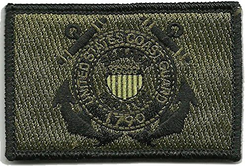 U.S. Coast Guard Tactical Patch - Olive Drab