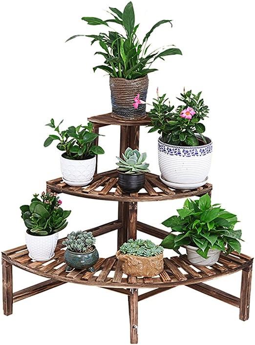 CRS-ZBBZ Escalera de 3 Niveles Estantes para Flores/Plantas Maceteros para Plantas Estantes/Estante para estantes Almacenaje en el jardín Estantería Interior para el Living Oficina Balcón: Amazon.es: Hogar