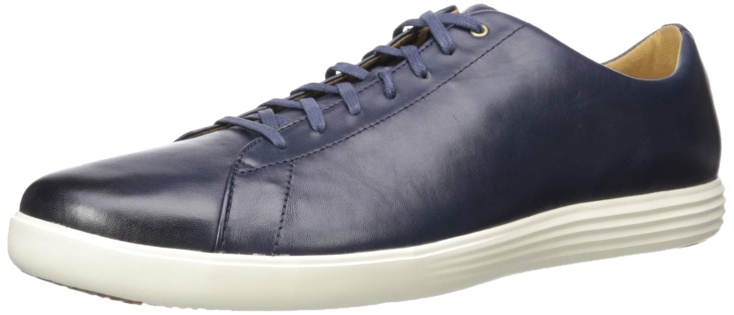 Cole Haan Men's Grand Crosscourt II Sneaker, Navy Leather BRNSH, US 10W