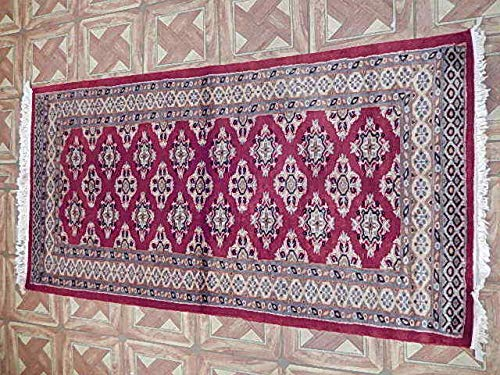 c5e263c9a1c5 Amazon.com  Ghiordes Knot Rug 2  4   x 4  6   Rose - Desire Transitional  Handmade Rug  Kitchen   Dining
