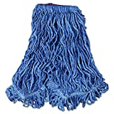 Rubbermaid Commercial D213BLU Super Stitch Blend Mop Head, Large, Cotton/Synthetic, Blue (Case of 6)