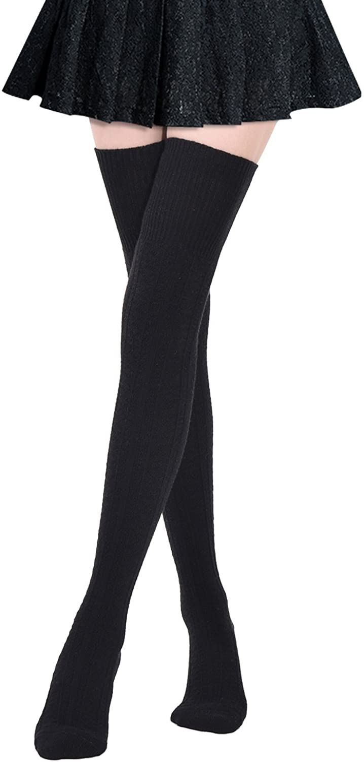 Girls Ladies Women Thigh High OVER the KNEE Socks Long Cotton Stockings Warm Compression Socks