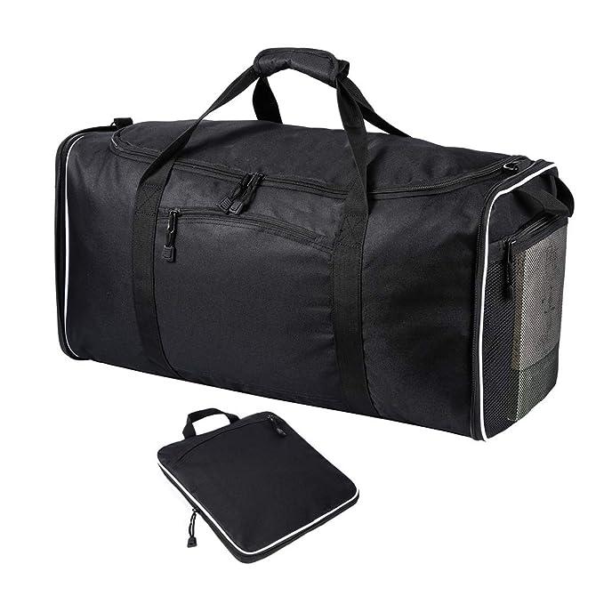 4bde47fb1438 60L Waterproof Lightweight Foldable Daypack Men Women Large Travel Duffle  Bag Black