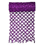 VCO 30' x 12'' Commercial Length Extra Wide Wired Mesh Purple Tinsel Garland Ribbon