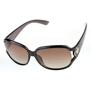 09f7cda7a8 JAKY Vintage Oversized Frame Fashion Polarized Women Sunglasses UV400(Brown)