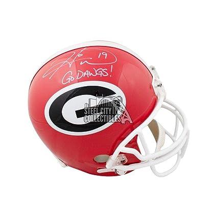 fef98c9e15d Hines Ward Autographed Georgia Bulldogs Full-Size Football Helmet - COA -  JSA Certified -