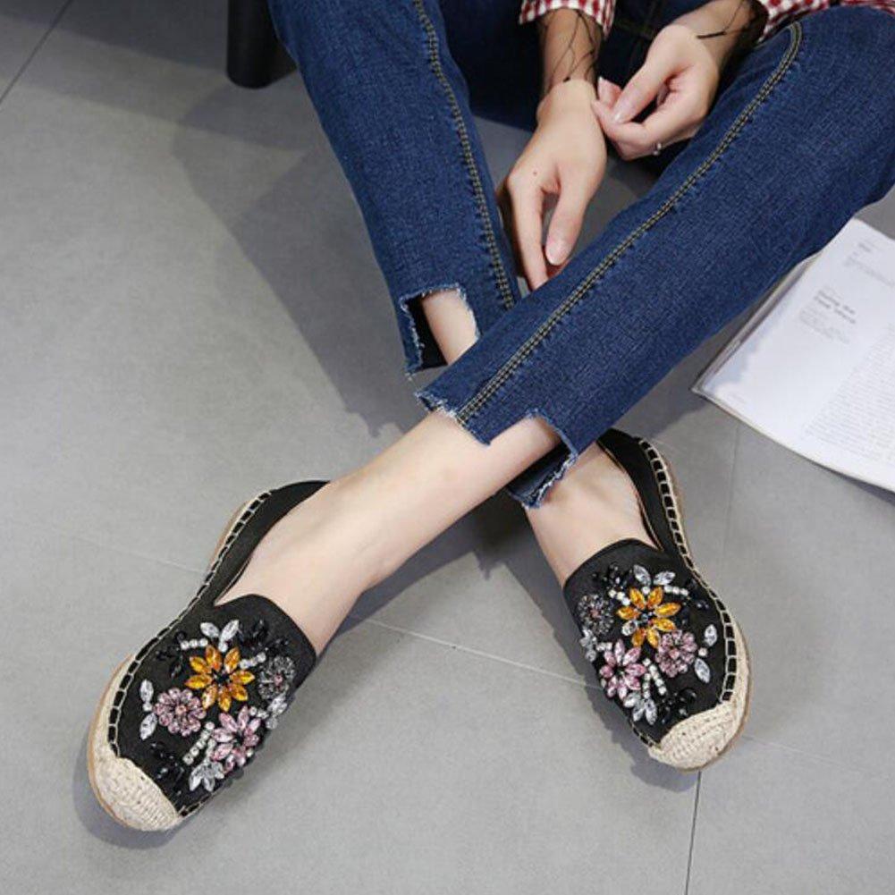 GAOLIXIA Damen Damen Wildleder Strass Loafers Schuhe Diamante Klassische Flache Aprikose Schuhe Pumps Slip On Trainer Walking Casual Aprikose Flache Schwarz b3a1a9