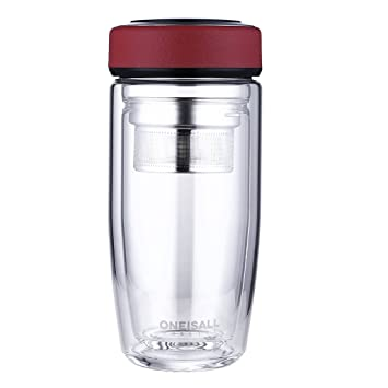weiju 380ml botella de agua potable de vidrio, cristal de ...