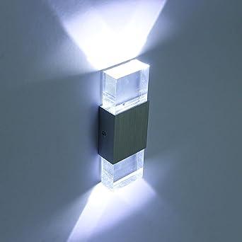 Lightess Applique Murale 2 Mini Leds En Aluminium 6w Lumiaire