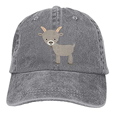 PMNADOU Cartoon Goat Denim Baseball Caps Hat Adjustable Cotton Sport Strap Cap for Men Women from PMNADOU