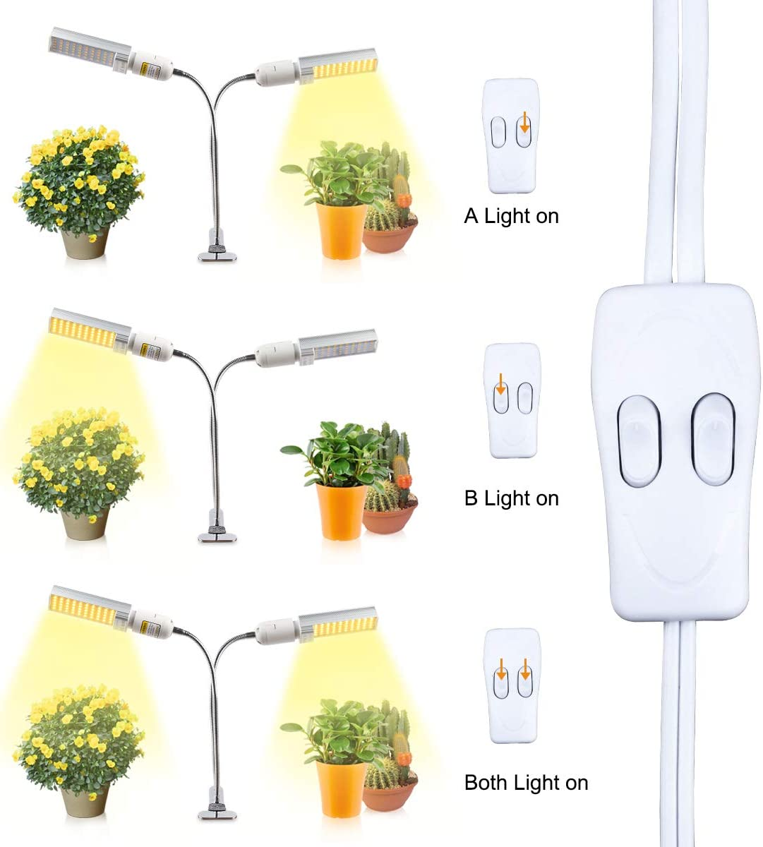 LED Sunlike Full Spectrum Plant Growing Lamp for Seedling Blooming Fruiting JEVDES LED Grow Light 100W Plant Light for Indoor Plants