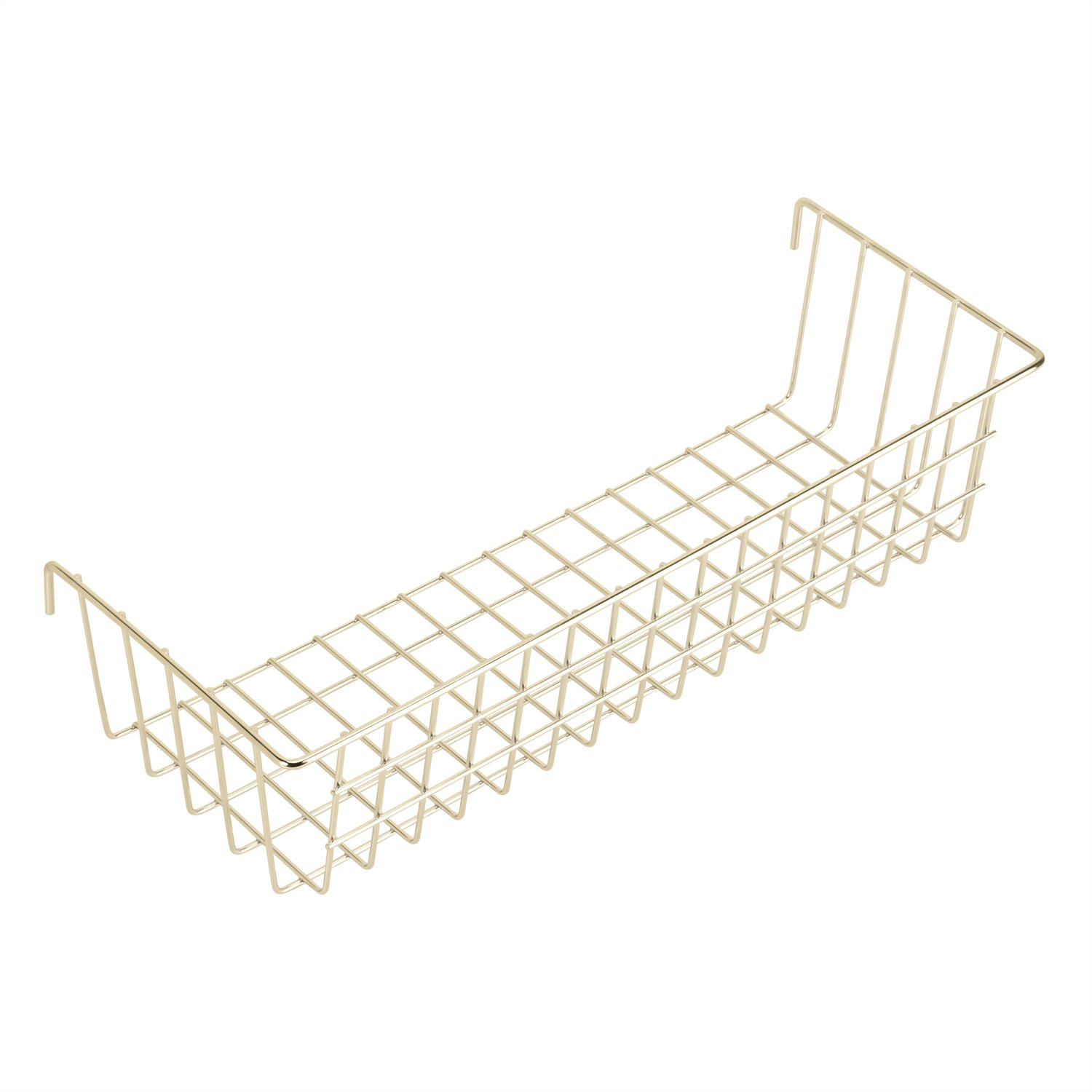 Hosal Gold Hanging Basket for Wire Wall Grid Panel, Multifunction Wall Storage Display Decorative Basket, Size 14.6''x5.1''x3.9''