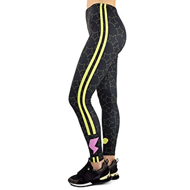 ADELINA Pantalones De Yoga De con Líneas Estilo Mujer Impreso ...