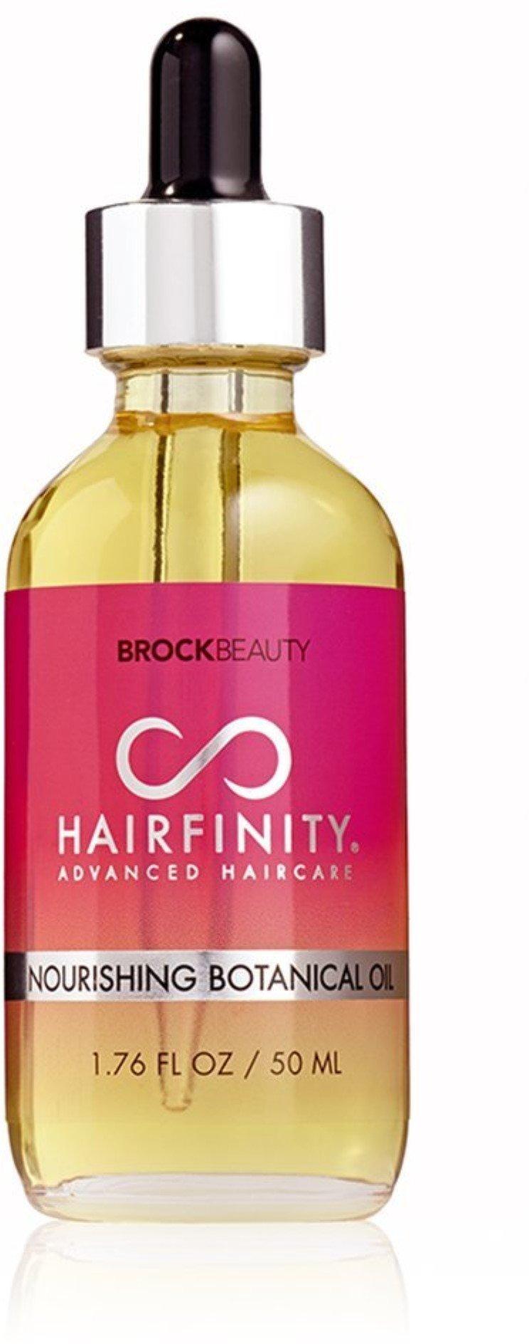 Hairfinity Nourishing Botanical Oil 100% Naturally Derived Ingredients & Essential Oils - Reduce Hair Breakage + Increase Shine & Elasticity 1.76 oz