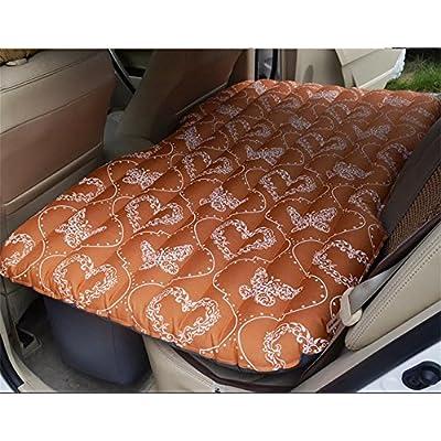 Ruirui Matelas pneumatique gonflable de véhicule automobile split PVC flocage voiture Travel Cot , orange