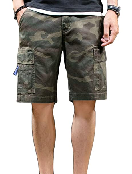 4a68ada6ba Domple Mens Casual Military Camouflage Work Multi-Pockets Combat Outdoor Cargo  Shorts | Amazon.com