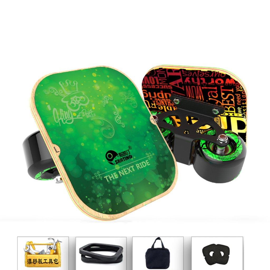 100 %品質保証 ドリフトフリーラインスケート大人のフラッシュの子供四輪スケートボード交通道路マットブラックハンドパターンを描いた B07FM95Q41 B07FM95Q41 Green Green, レンタル衣裳 マイセレクト:c235ce48 --- a0267596.xsph.ru