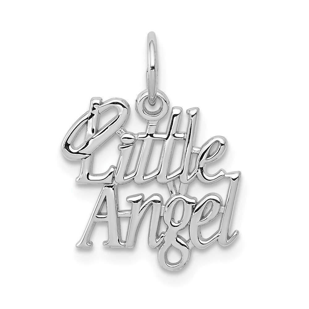 Jewelry Pilot 14K White Gold Little Angel Charm