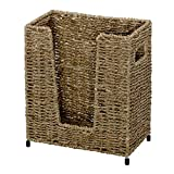 Hoffmaster BSK3050 Large Seagrass Basket, 11'' Height, 5.75'' Width, 9.5'' Length, Light Brown