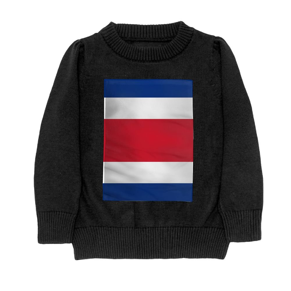 DTMN7 Flag Of Costa Rica Teens Sweater Long Sleeves Crew-Neck Youth Athletic Casual Tee Junior Boys