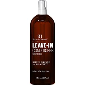 Botanic Hearth Leave In Conditioner Spray - Hair Treatment Product Strengthens Dry, Damaged, Chemically Treated Hair - Adds Volume and Manageability - Leaves Hair Soft and Smooth - 8 fl oz