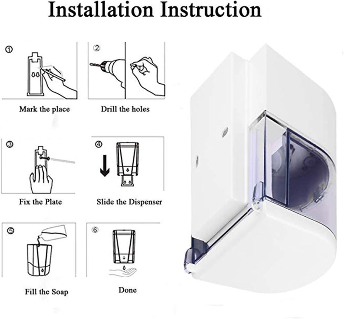 Automatic Soap Dispenser Sunsbell Wall-Mounted Sensor Soap Dispenser - Battery Powered Senor Pump for Kitchen/Bathroom (600ML-S01): Home & Kitchen