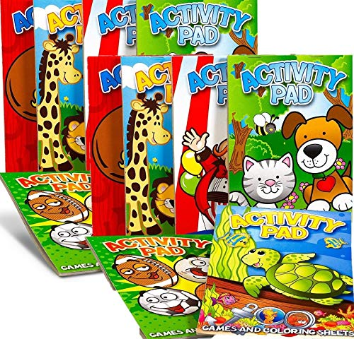 Fun Express Activity Pad Assortment Party Accessory (Party Favor Pack: 24 Count) -