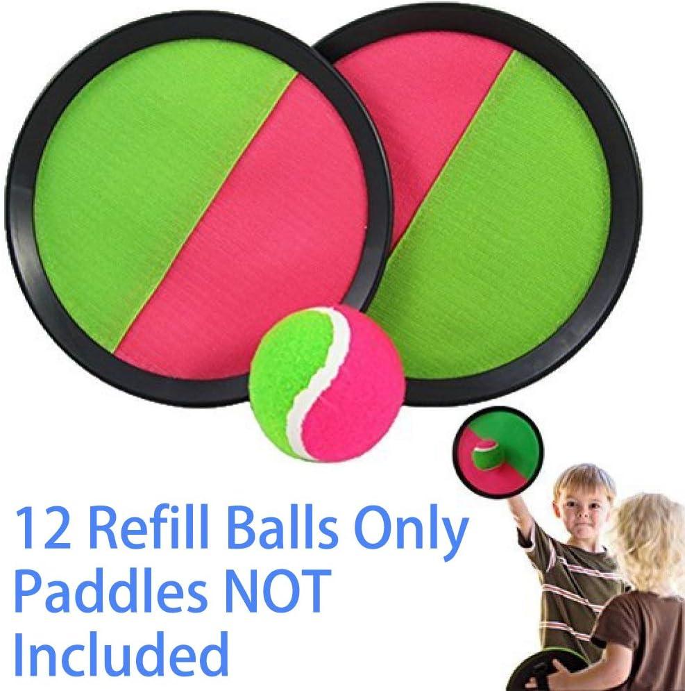 Set of 12 Liberty Imports Replacement Balls for Toss /& Catch Sport Game Refill Pack 1 Dozen Bulk Hook /& Loop