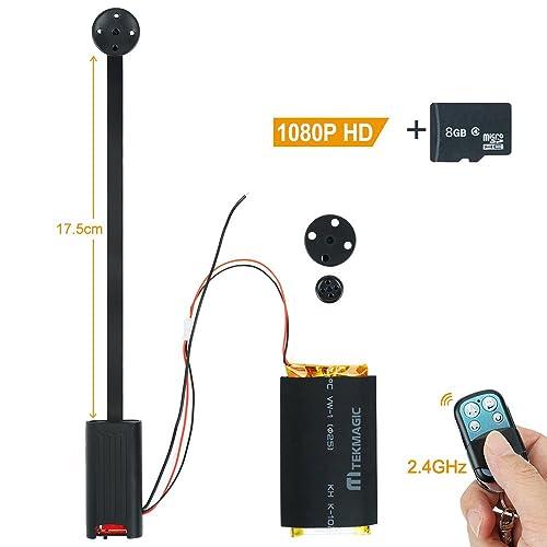 TEKMAGIC Caméra Espion Activé par le Mouvement Vidéo Enregistreur 8GB Portable Mini DV Caméscope avec Audio Enregistrement 1920x1080P HD