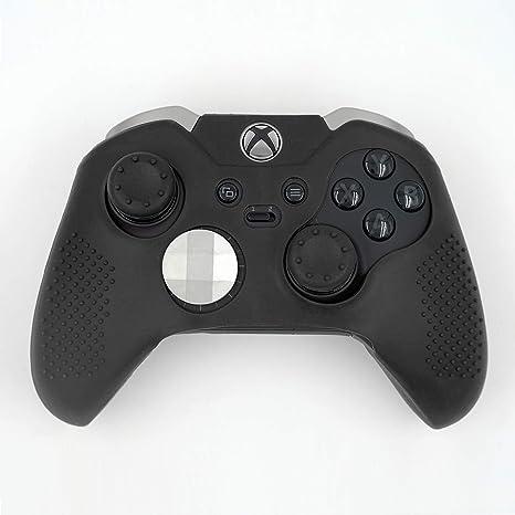 Mcbazel Estuche protector de piel y funda protectoras de silicona para el controlador de Xbox One Elite solamente - Negro: Amazon.es: Videojuegos
