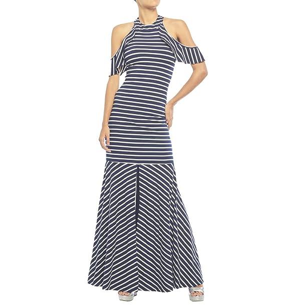 bfe2fd14b Vestido largo Studio F de rayas modelo S069783 color navy talla M ...