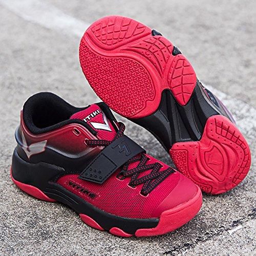 Zapatillas de baloncesto infantil Zapatillas de baloncesto deportivo Transpirable Zapatillas de baloncesto antideslizante Zapatillas deportivas Rojo