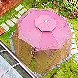 Coffee 7.5-11ft Outdoor Patio Table Umbrella