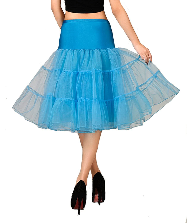 AliceHouse Women's 50s Vintage Petticoat Crinoline Tutu Underskirts PC04