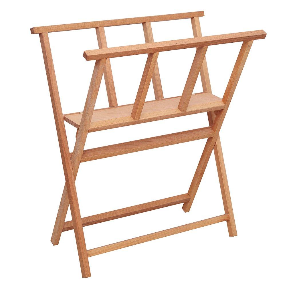 SELECTION X-Frame Folding Wood Large Art Print Rack for Storages & Shows
