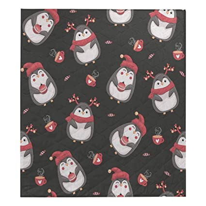 Amazon Com Interestprint Merry Christmas Penguins Cotton