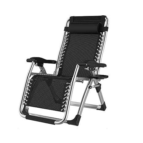 Reclinables Tumbonas Sillón Plegable reclinable Silla de Camping Zero Gravity Portable, Teniendo 200 kg,