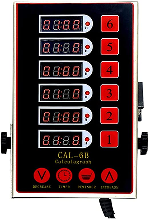 US Digital Commercial Countdown 8 Channel Timer Kitchen Calculagraph Loud Alarm