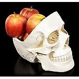 Weiße Totenkopf Schale | Deko Figur Obstschale Totenschädel