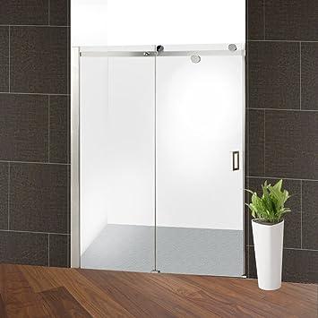 Aleko GSD02 - Puerta de ducha corredera (acero inoxidable, 121,92 x 182,88 cm): Amazon.es: Bricolaje y herramientas