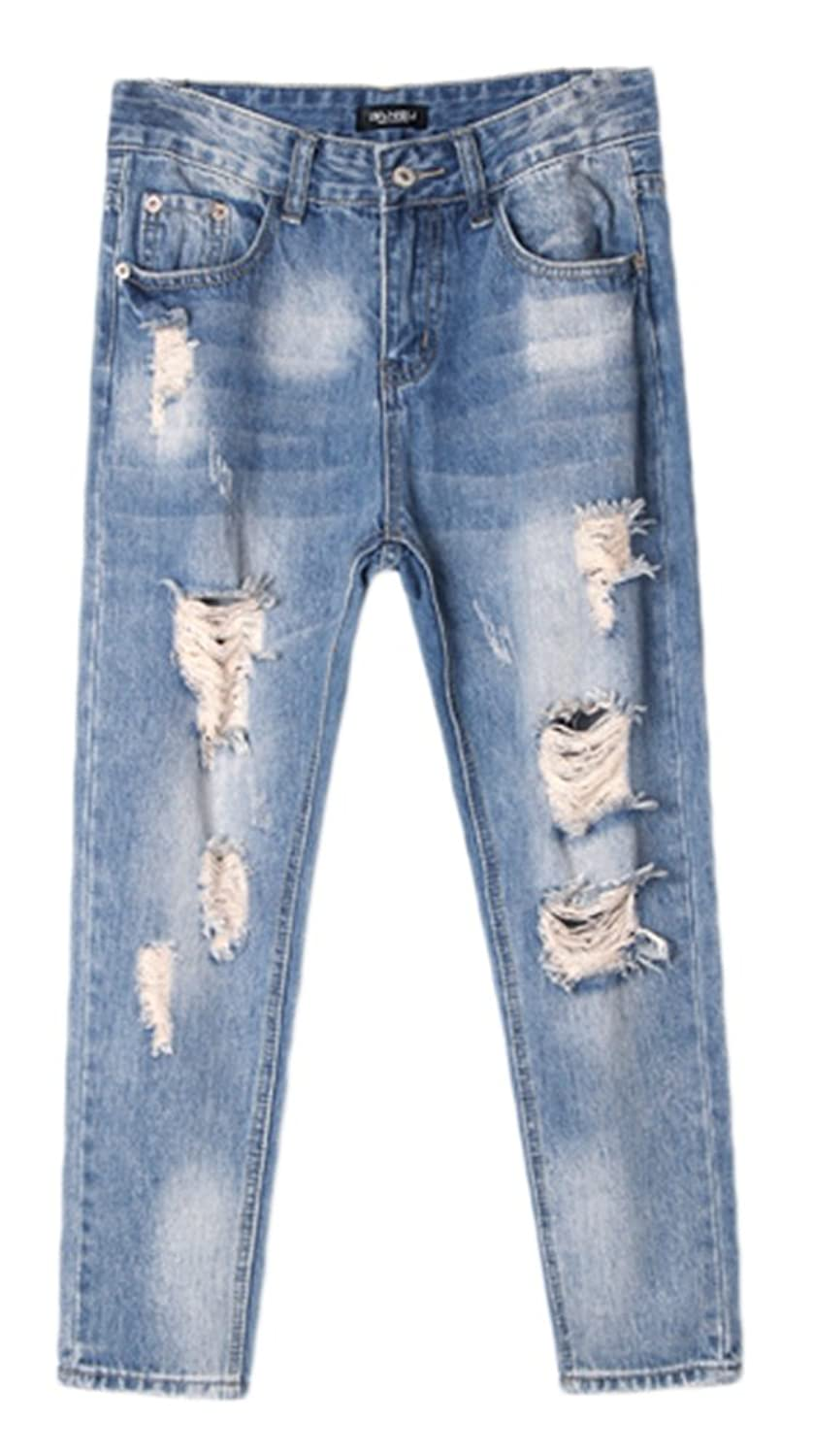 AvaCostume Baggy Ripped Boyfriend Style Denim Jeans
