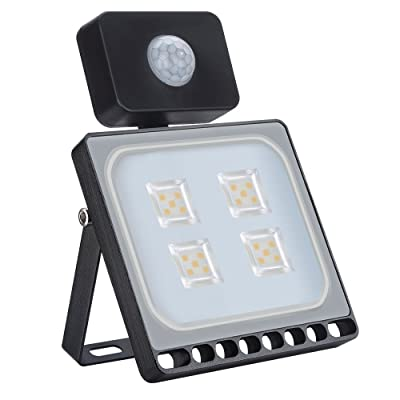 Ankishi 20W Led Motion Sensor Flood Light, 2000LM Super Bright 3000K Warm White, IP67 Waterproof Floodlights, Led Flood Lighting Outdoor for Yard, Garden, Playground, Basketball Court